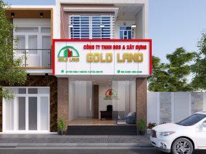 Mẫu bảng hiệu quảng cáo Inox vàng mang đến vẻ đẹp sang trọng cho công ty